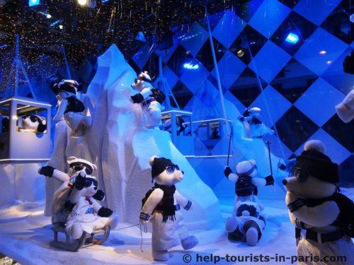 Weihnachten im Printemps Paris