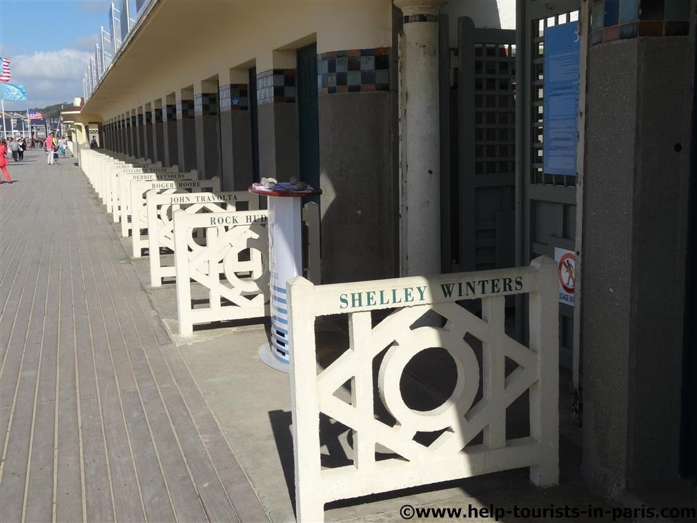 Strandkabinen in Deauville
