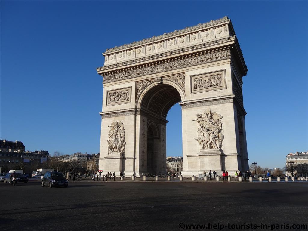 Blick auf den Triumphbogen in Paris
