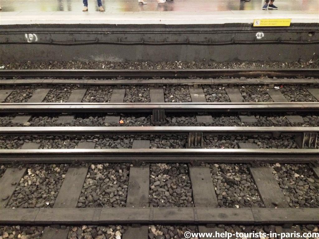 Schienen Metro Paris