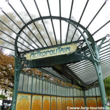 Alter Metroeingang Paris