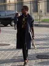 Interessanter Gast Pariser Fashion Week