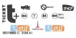 Paris Einzelfahrschein für eine Fahrt