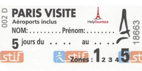 Paris Visite Pass 5 Tage Zone 1 Fur Erwachsene ID 047