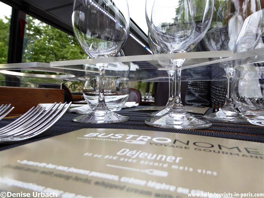 Bustronome Paris Menü
