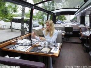 Denise im Bustronome Paris