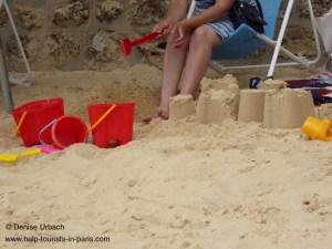Sandkasten Kinder Paris Plages