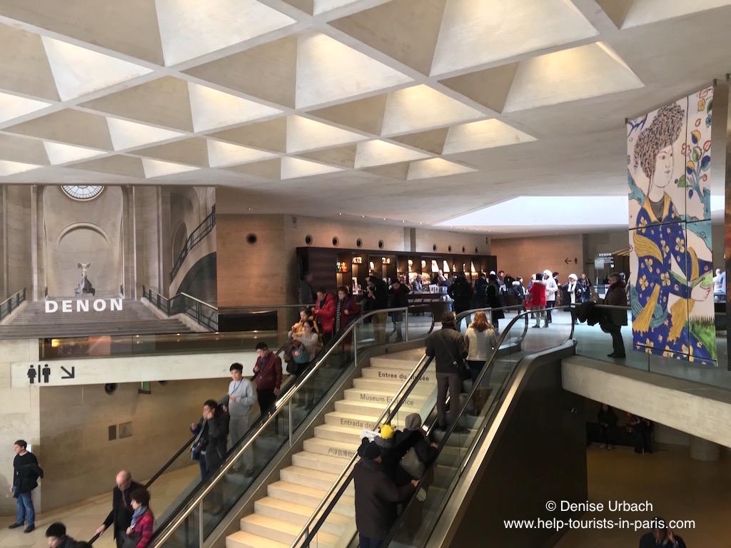 Denon Flügel mit Mona Lisa Louvre