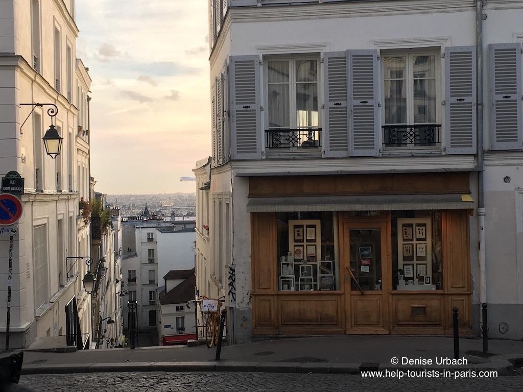 Montmartre Blick auf Paris