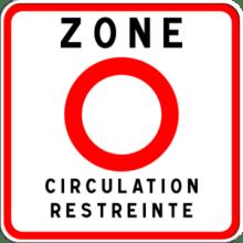 Umweltzone PAris Verkehrszeichen