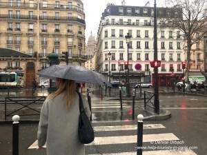 Mit Schirm in Paris