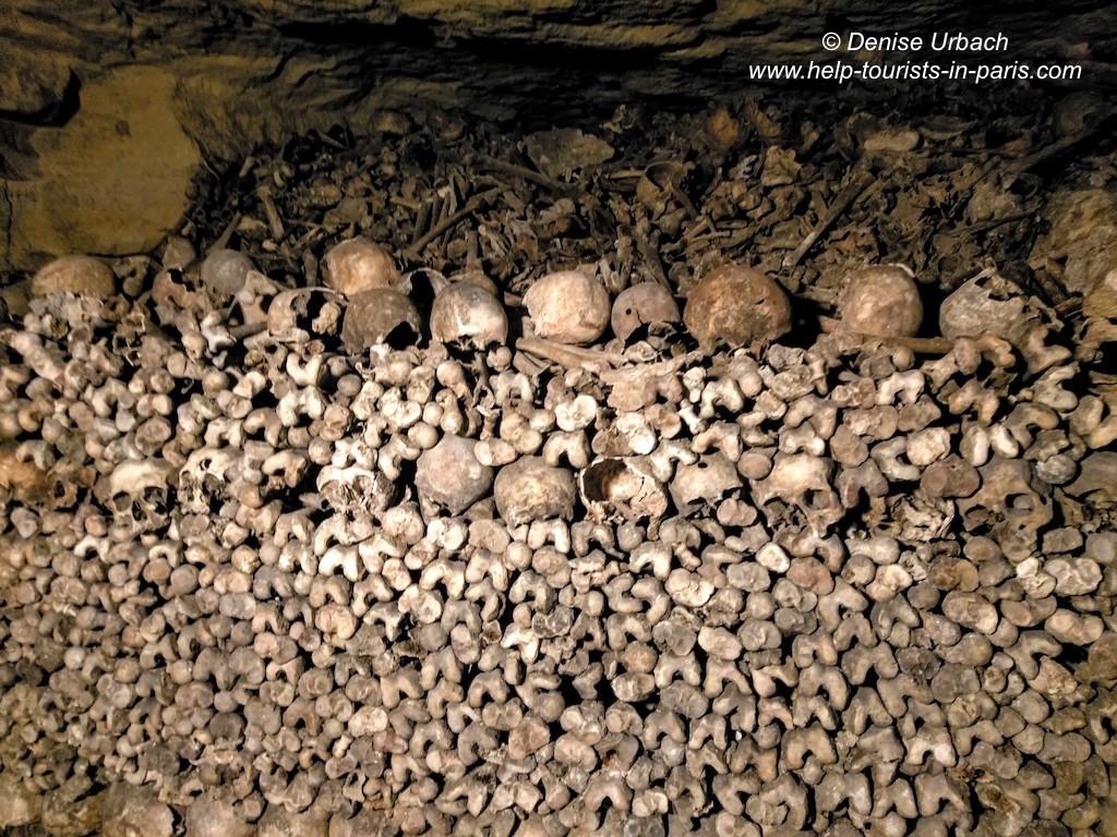 Gebeine in den Pariser Katakomben