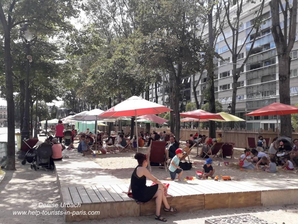 Paris Plages Sandgrube
