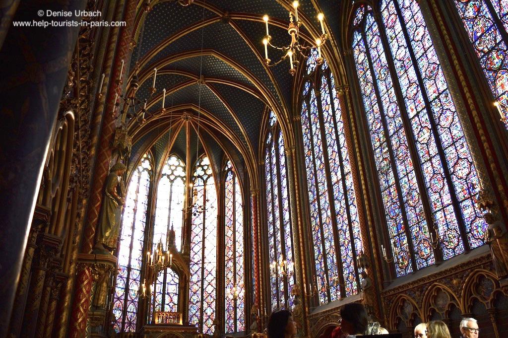 Sainte Chapelle Buntglasfenster