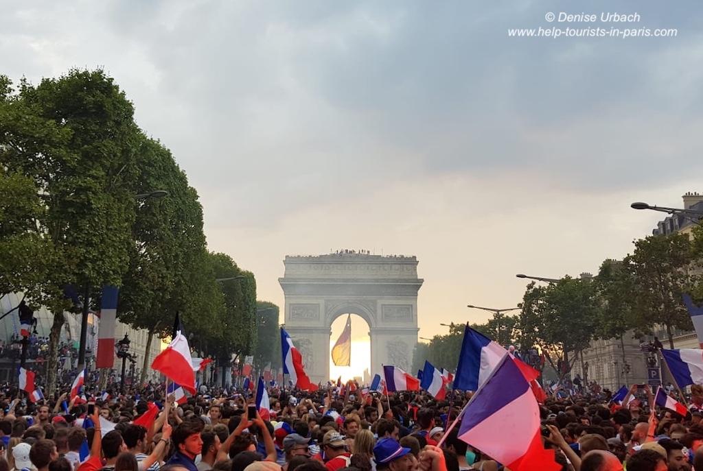 Champs-Élysées Paris Fußball Weltmeisterschaft