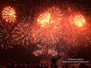 Feuerwerk Paris Nationalfeiertag