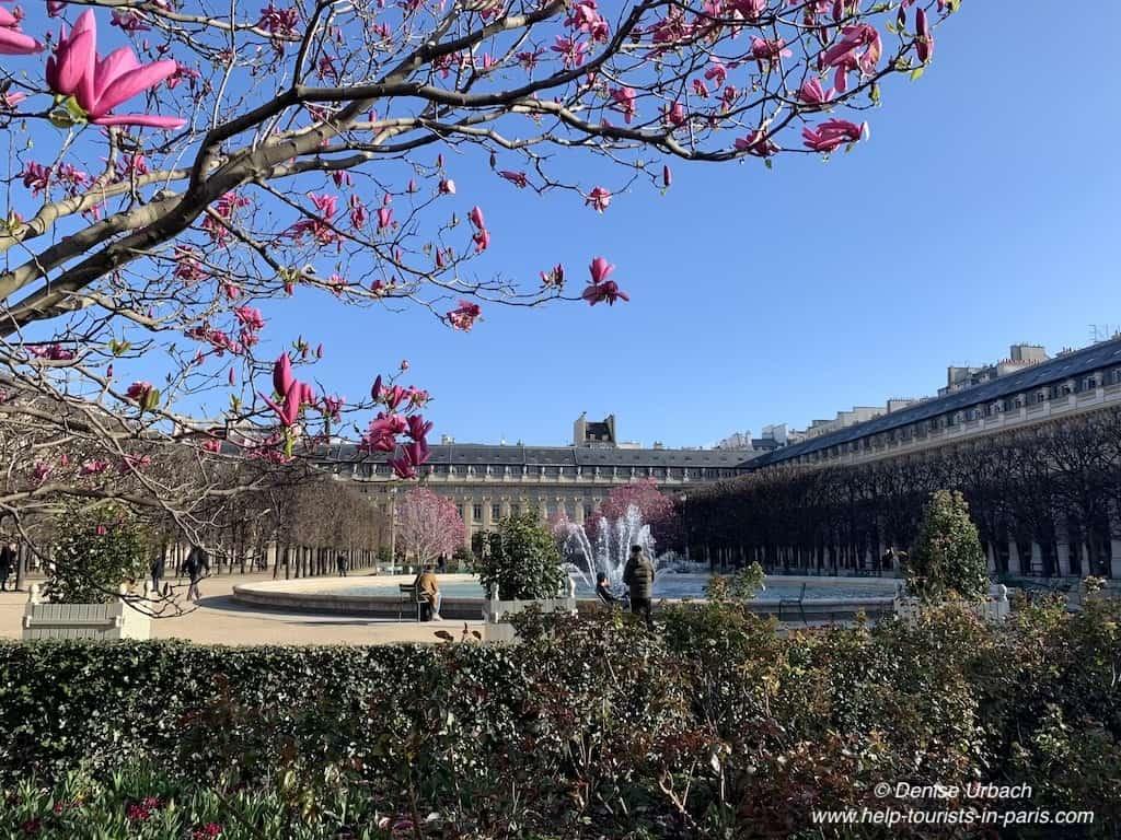 Palais Royal Paris Frühling