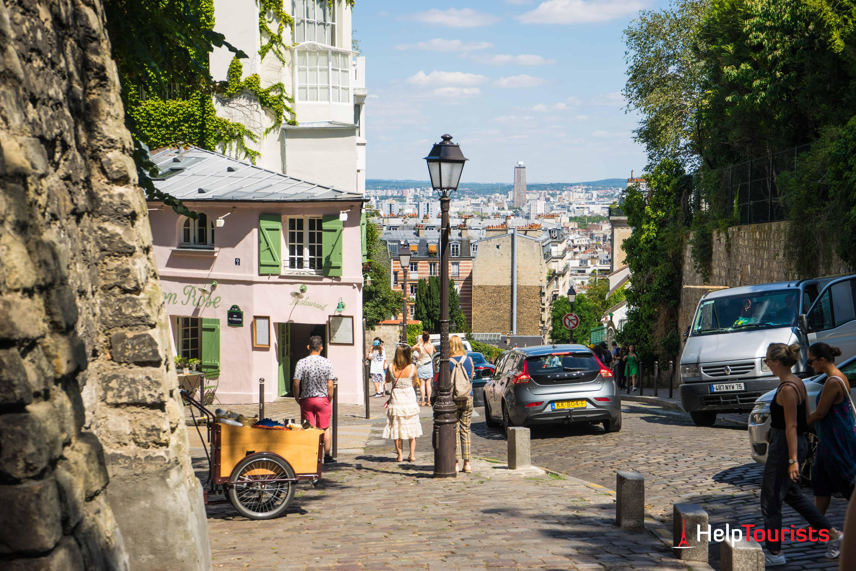 PARIS_Montmartre_La-maison-rose_Aussicht_l