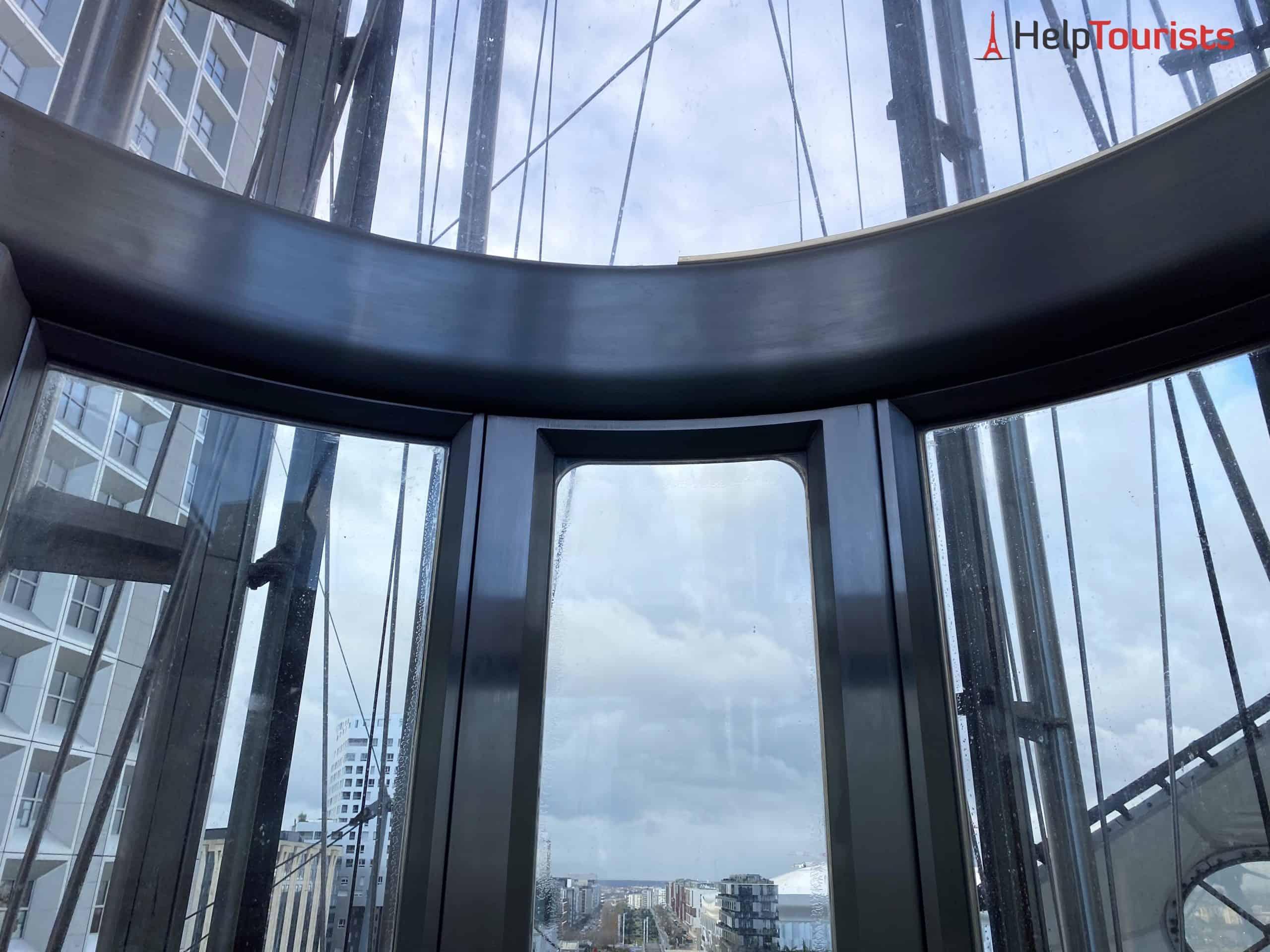 Paris Grande Arche La Défense Aufzug