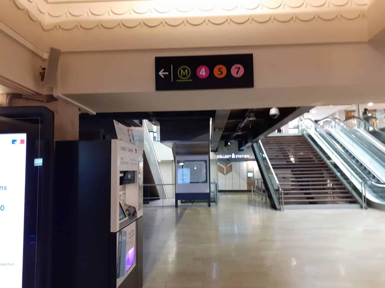 Paris Gare de l'Est Metro