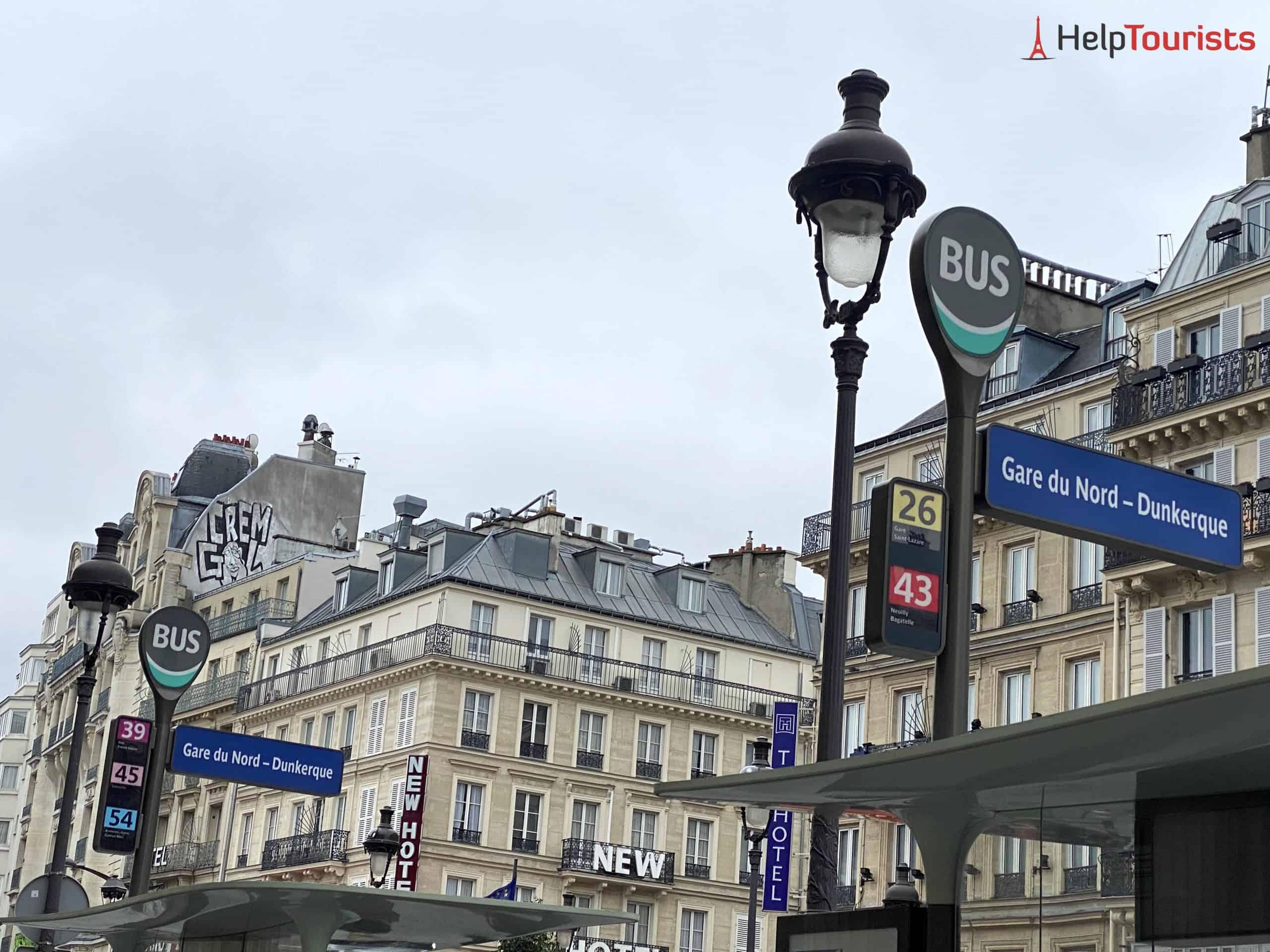 Paris Gare du Nord Busstationen