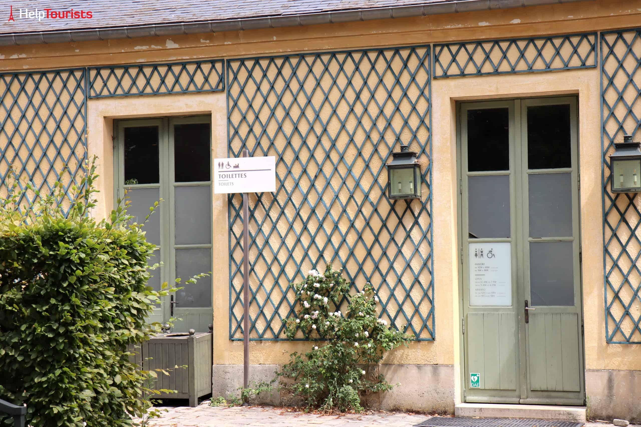 Paris Versailles Garten Domaine de Trianon Toiletten
