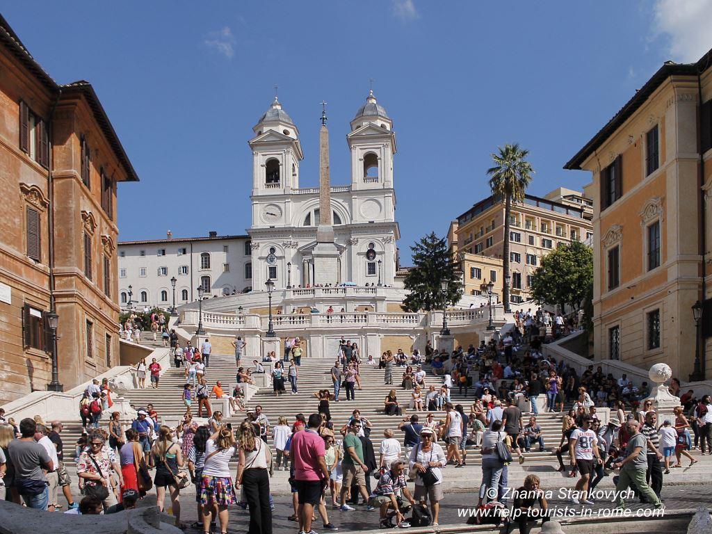 spanische treppe in rom tipps und infos helptourists in rome. Black Bedroom Furniture Sets. Home Design Ideas