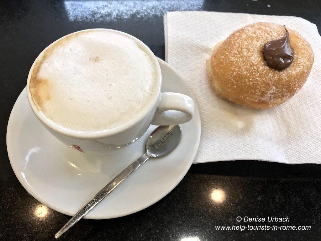 Café und Dolci in Rom