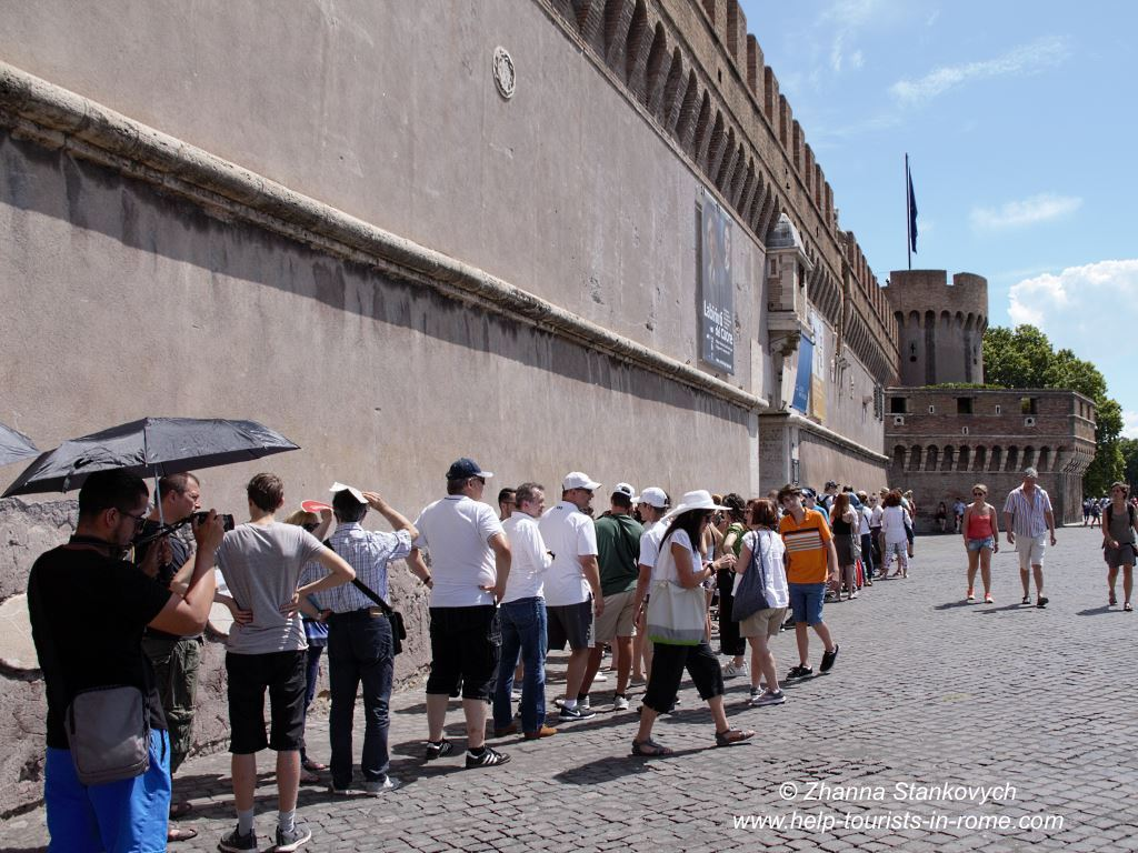 Castel Sant'Angelo Rome waiting line