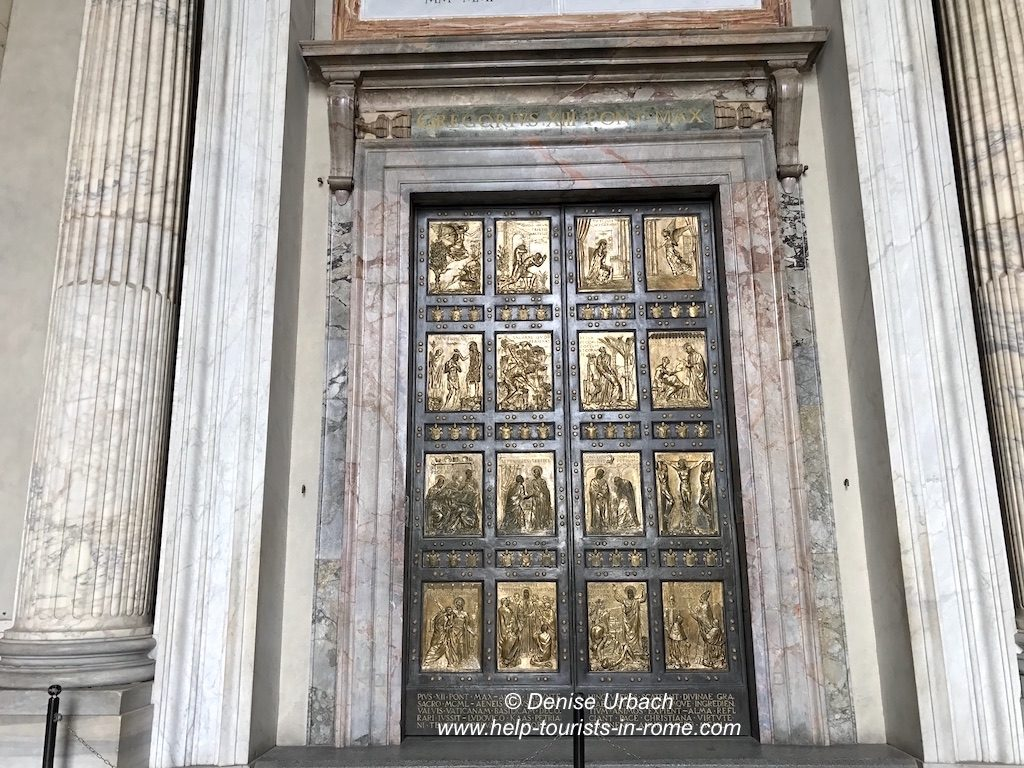 Holy portal st peter basilica