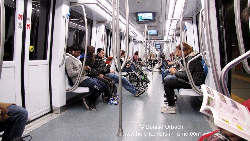Metro train-Rome