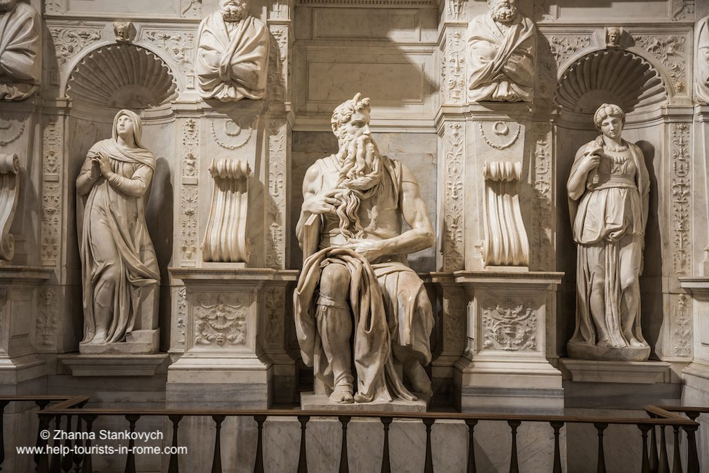 Moses by Michelangelo Rome