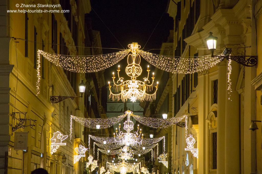 Rome Christmas decoration