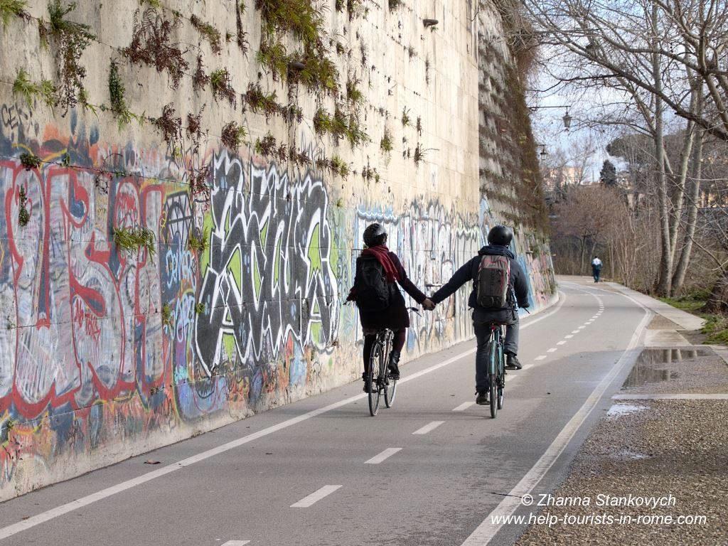 Valentine's Day Rome bike rental