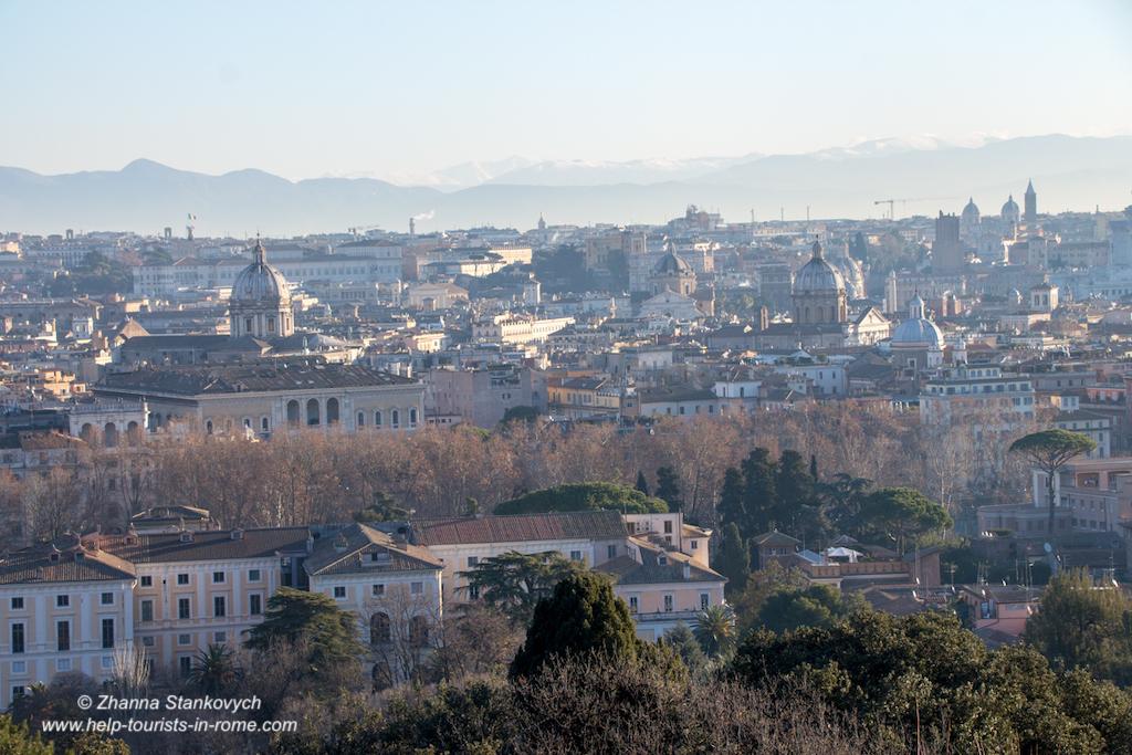 Wintermorgen am Gianicolo in Rom