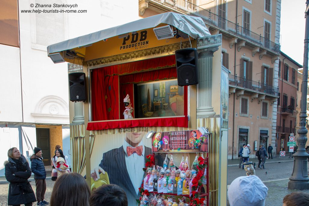 Piazza Navona Christmas Puppet Show