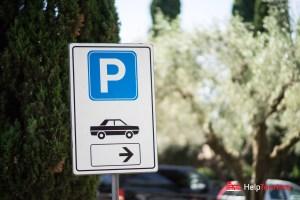 ROM_Via-Appia-Antica_Catacombe-di-San-Callisto_Parkplatz_Schild_l