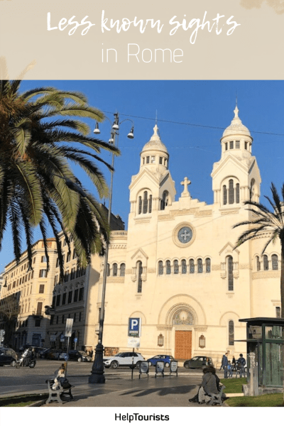 Pin less known sights in Rome