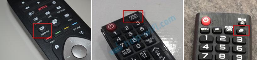 قم بالتبديل إلى USB على التلفزيون عن بعد