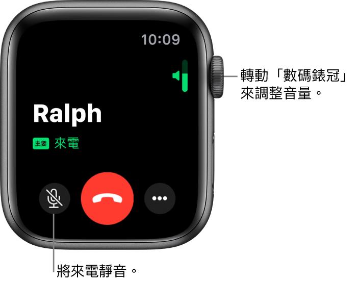 在 Apple Watch 上接聽電話 - Apple 支援