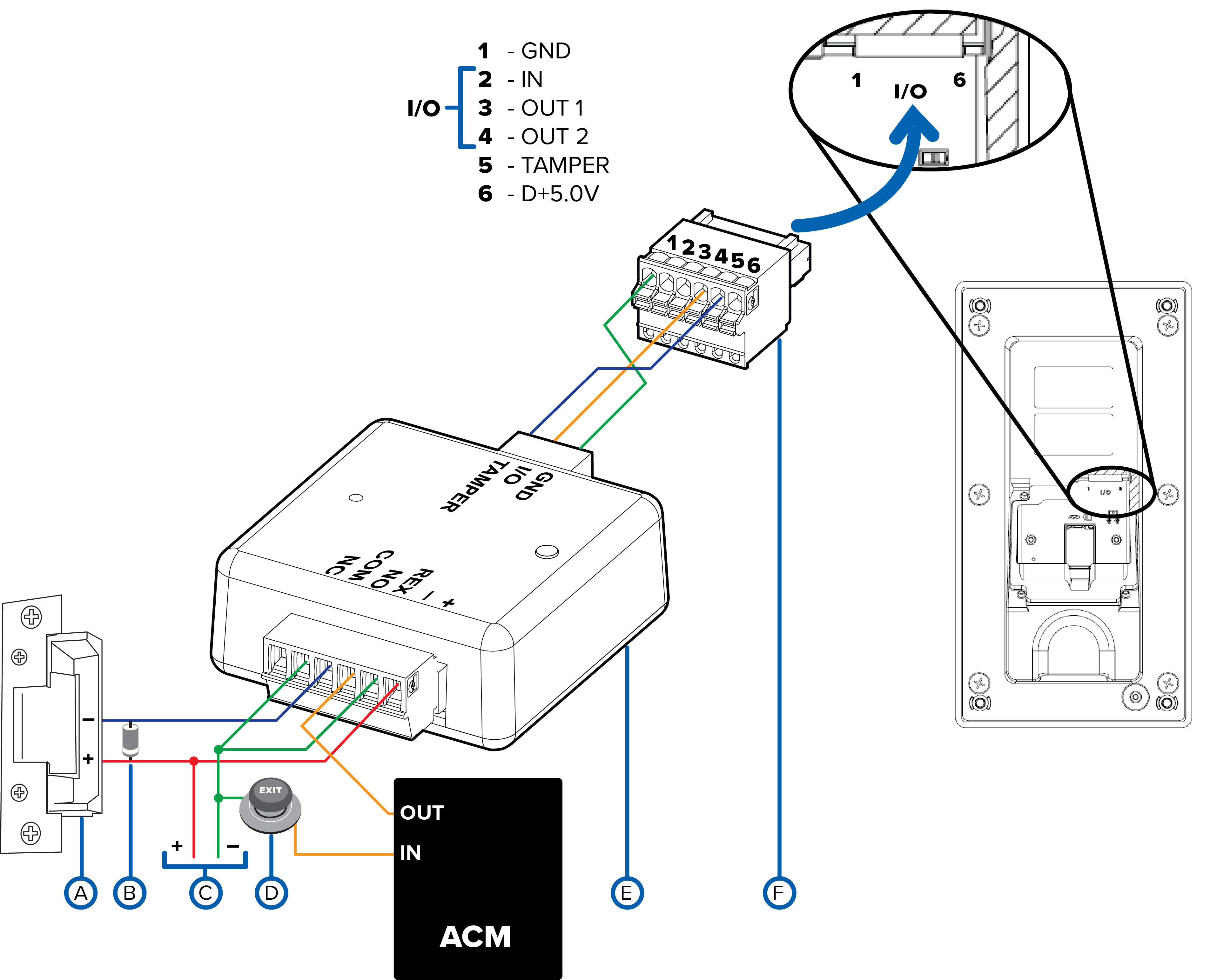 Wiring For A Door Already Managed By An Acm System