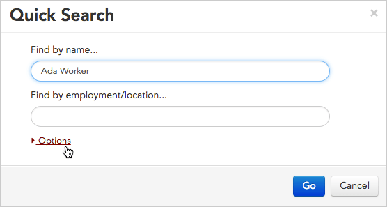 QuickSearchOptions