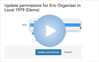 Change a user's role or permissions