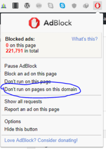 disable adblocker