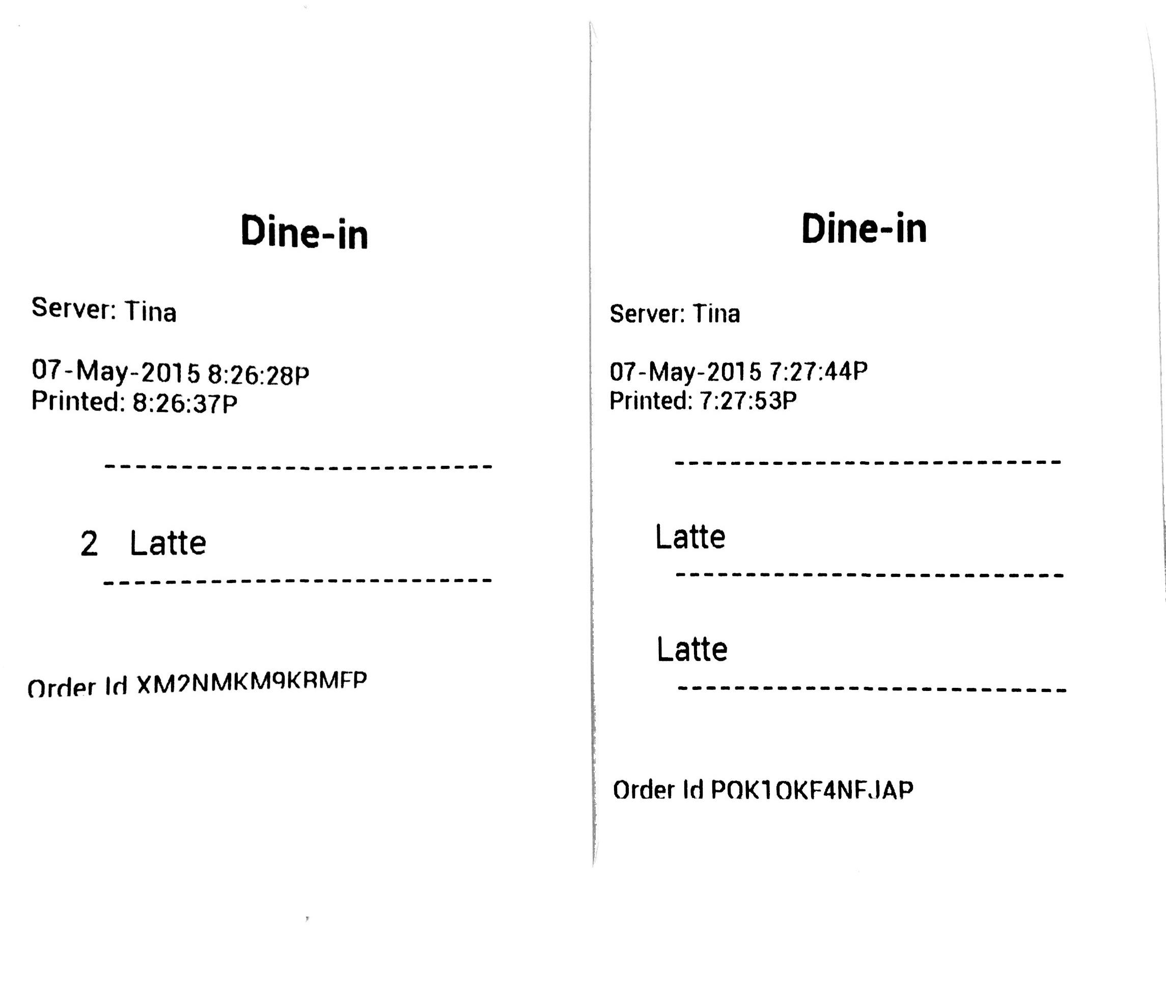 Order Receipts