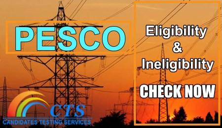 PESCO Eligibility & Ineligibility Candidates list