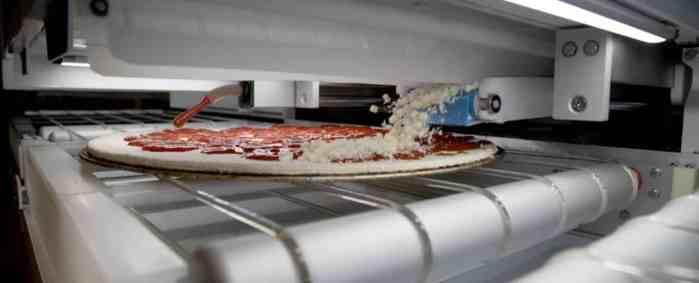 robô pizzaiolo