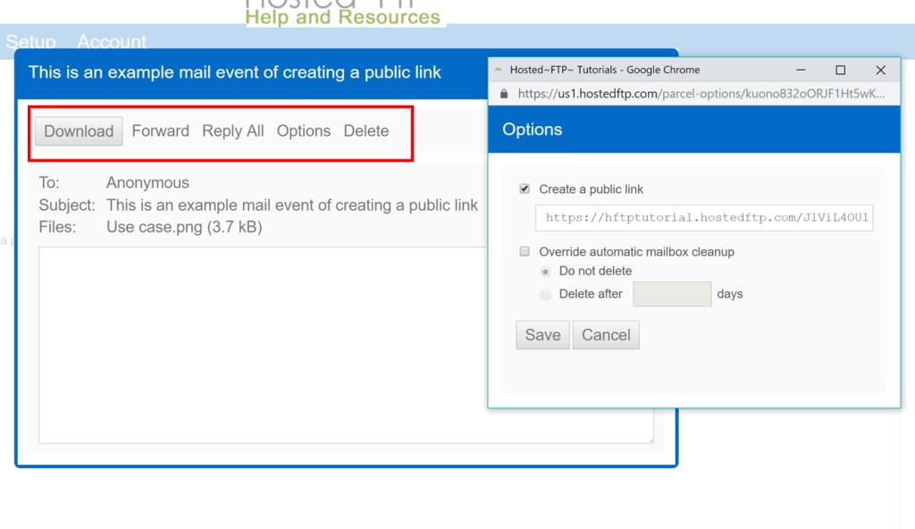 each event has their own settings