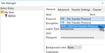 FTP client login