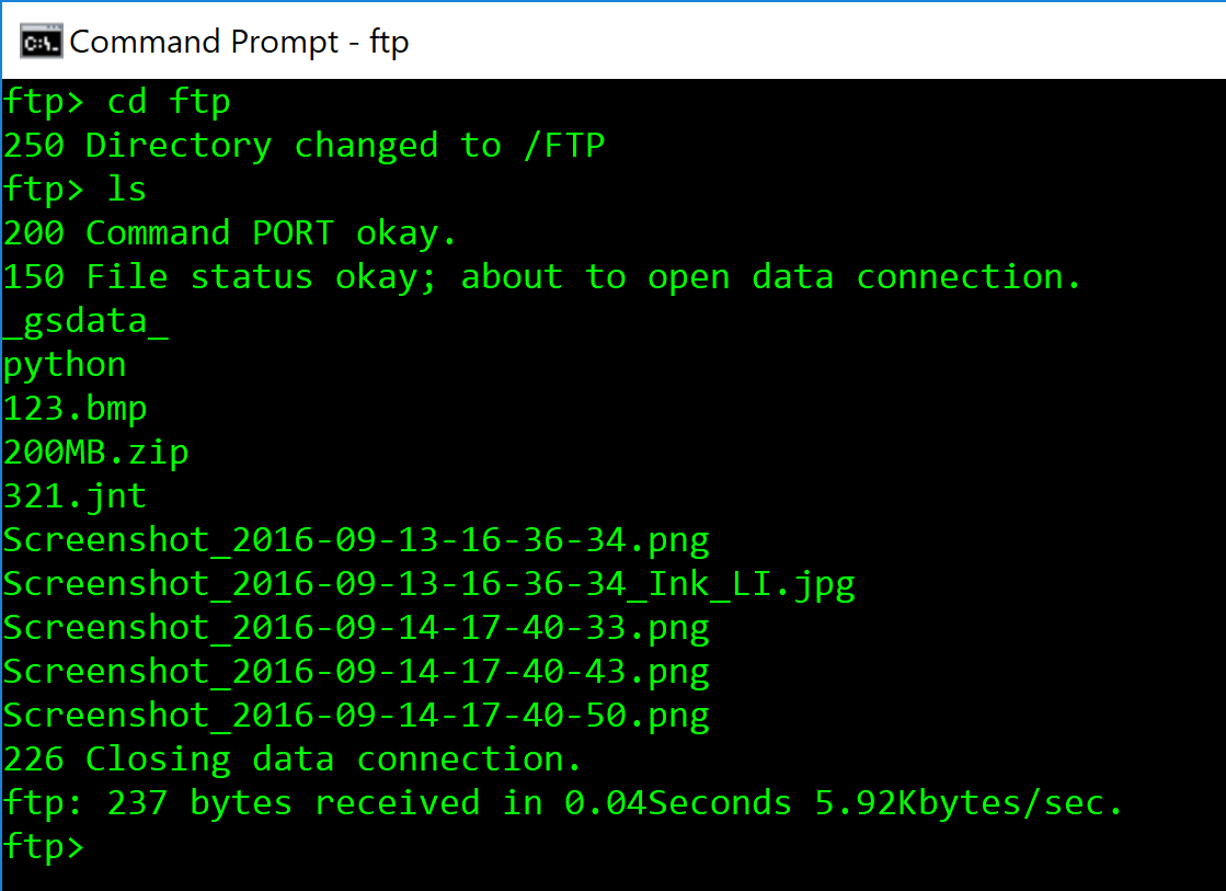 Understanding FTP commands in the command line | Hosted~FTP